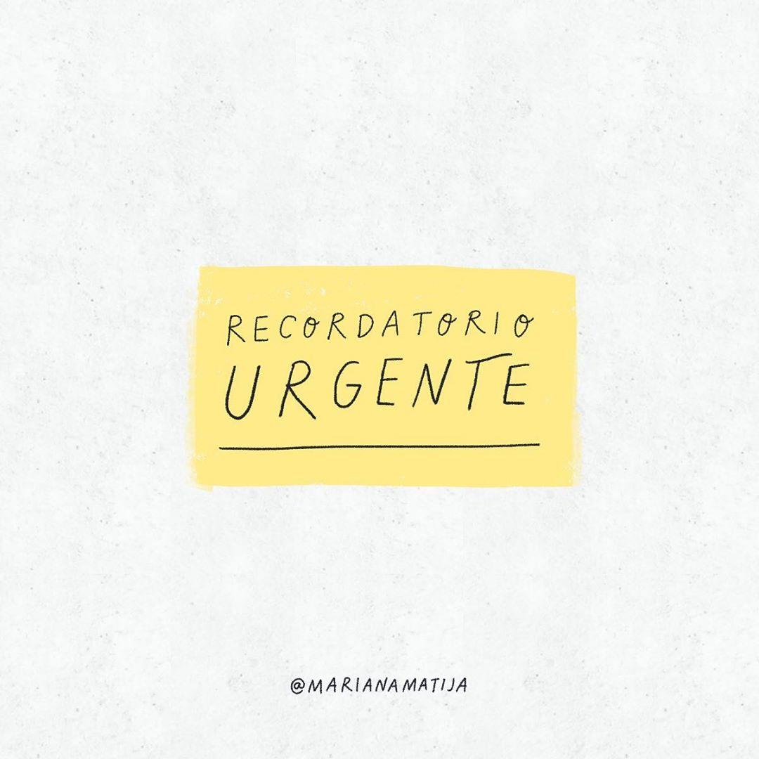 Recordatorio urgente