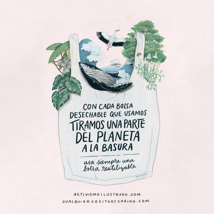 Una parte del planeta a la basura